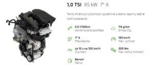 Škoda Kamiq motor