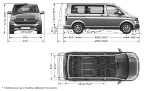 rozměry volkswagen multivan